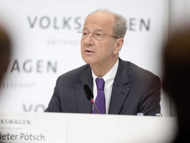 Nu har en ny ordförande utsetts hos Volkswagen: Hans Dieter Pötsch