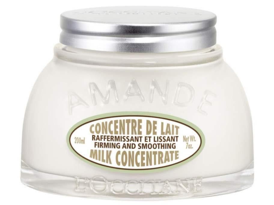 Bodylotion från L'Occitane som ger lyster till din hud - och nu kanske också kan bli en del av din hårvård? Almond Milk Concentrate, 395 kronor.