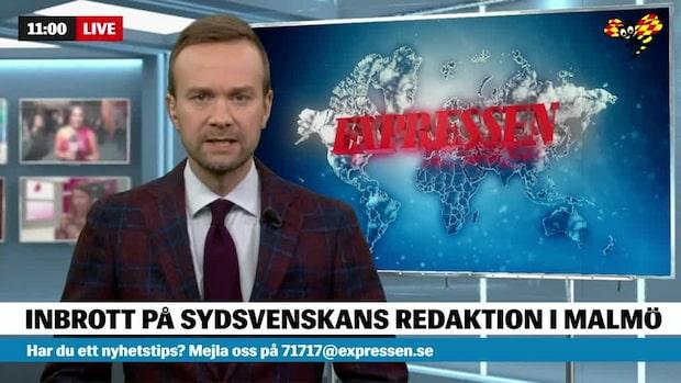 Obehörig tog sig in på Sydsvenskans redaktion