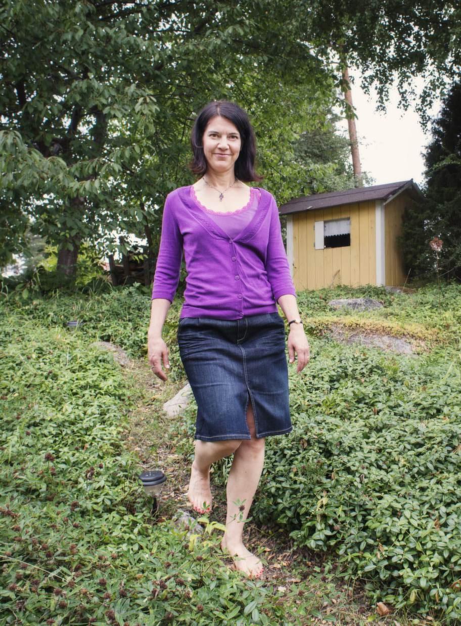 SMÄRTFRI. Karin Sax Granlöf tvingades lägga klackarna på hyllan och endast använda joggingskor under ett år, för att bli av med hälsporren.