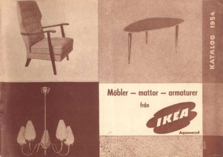 1954 års katalog visade tre bilder ur innehållet.