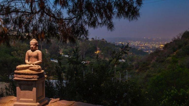 Utsikten över Los Angeles city är magisk.