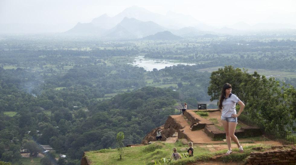 Utsikten från Sigiriyas topp gör det mödan värt att ta sig upp.