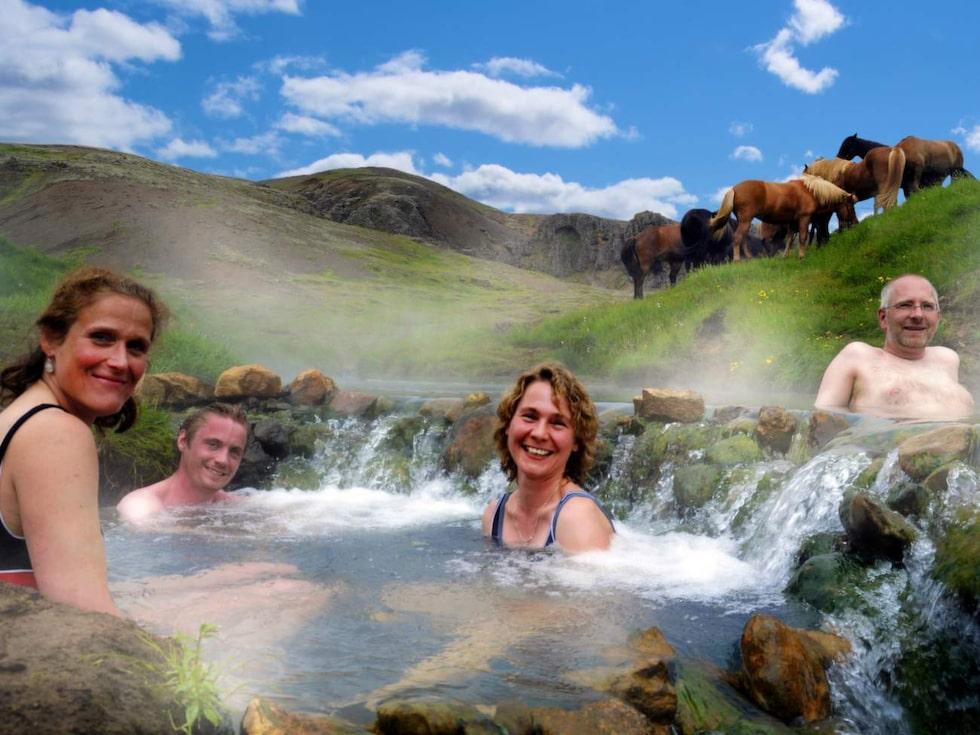 Island har tusentals varma källor.