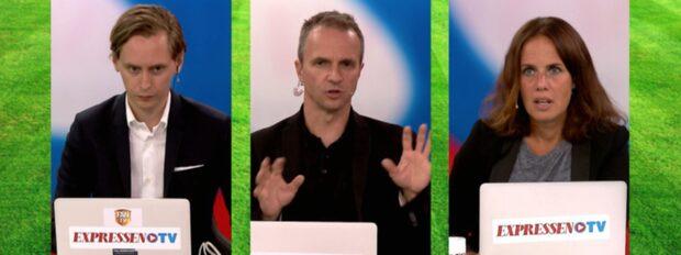 Skandalscener när kroatiska fans kastade in bengaler och knallskott