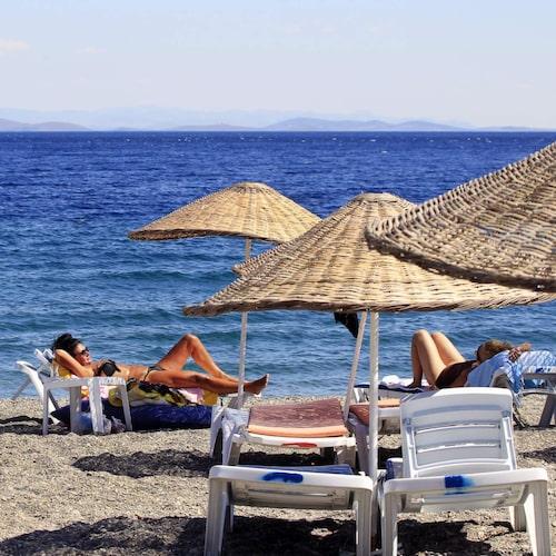 Till Edremit reser turkarna själva på semester.