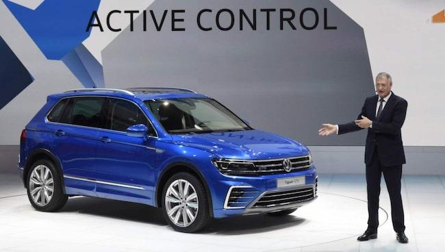 Volkswagen Tiguan GTE presenteras på bilsalongen i Frankfurt. Här i konceptversion med solcellstak – men vi gissar att en produktionsbil kommer mycket snart.