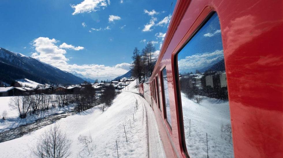 Ta glaciärexpressen från Zermatt till S:t Moritz.