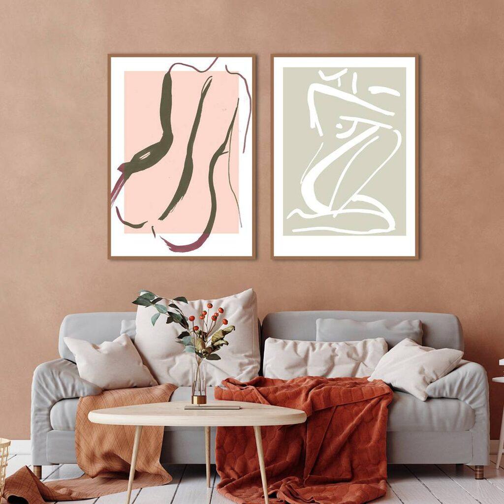 """Poster """"Sketch no 3"""" och """"Sketch no 2"""", från 199 kronor, Malerifabrikken."""