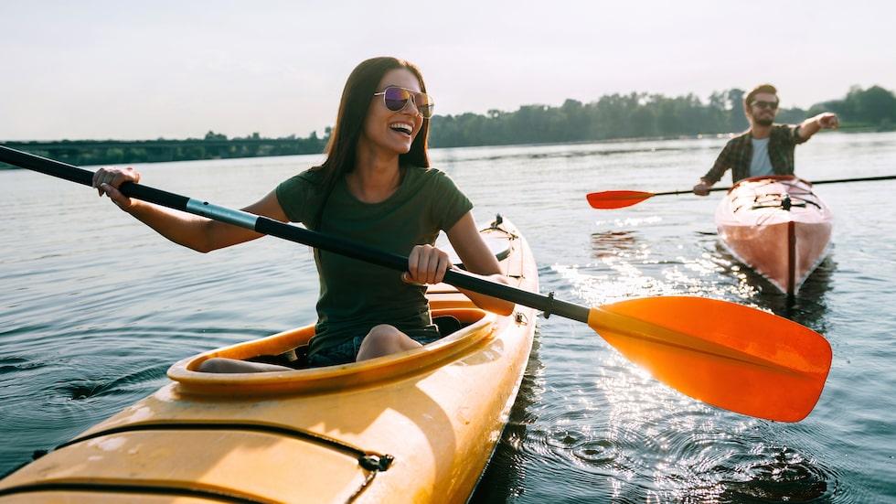 Paddla kanot med den du älskar kommer högt upp på listan.
