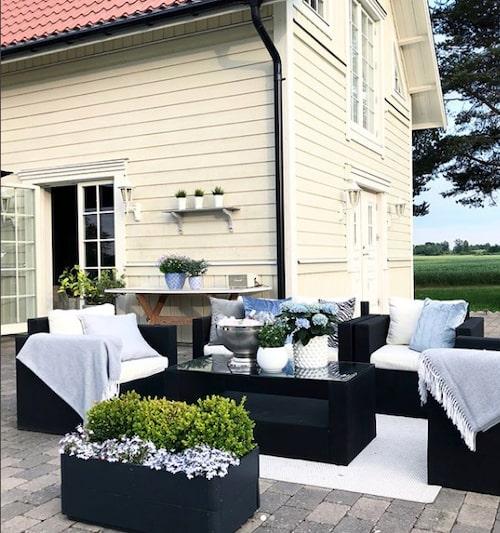 Huset i Linköping är byggt 1914. När Kicki och hennes sambo flyttade in var det slitet och nedgånget.