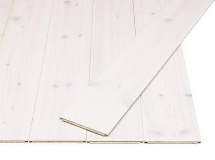Vit laminat. Klickgolvet Tundra i vitt med laminerad yta som inte bleks av solen, 69 kr/kvm, pris per förpackning 165 kr, Ikea.