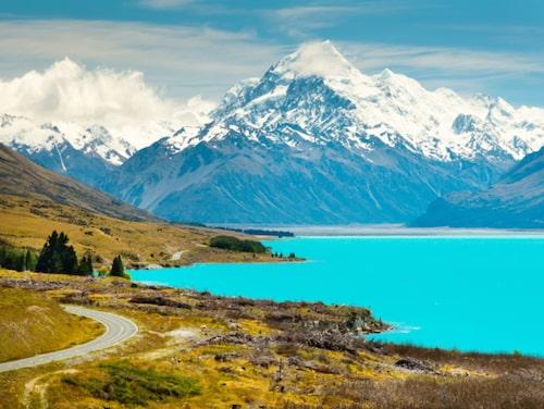 Storslagen natur på Nya Zeeland.