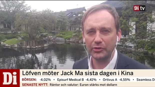 Löfven möter Jack Ma sista dagen i Kina