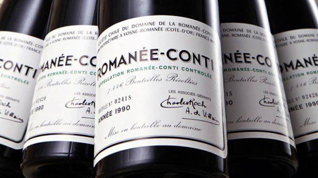 Många viner ökade kraftigt i pris under 2017, Domaine de la Romanée-Conti-viner steg runt 30 procent under fjolåret.