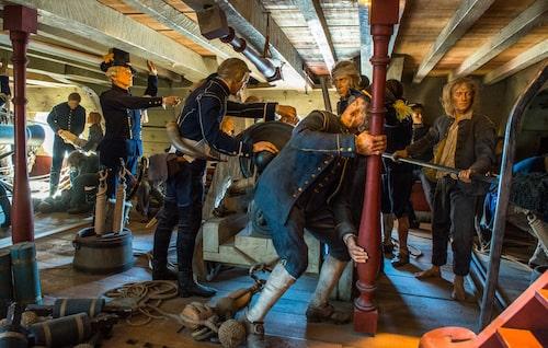 På Marinmuseet kan man få en uppfattning hur livet till sjöss kunde te sig förr i tiden.