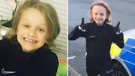 Jordan, 9, dog av blixten när han tränade fotboll