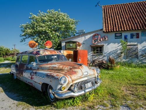 Nostalgikafé med havsutsikt på Fårö.