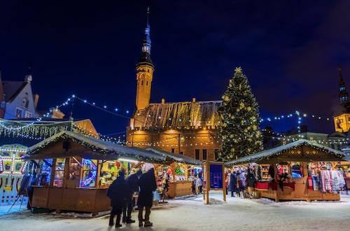 Julmarknaden på Rådhustorget i Tallinn har utsetts till Europas bästa 2019.