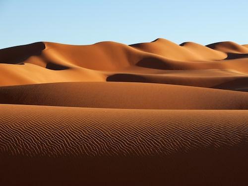 Sahara är 580 mil lång från väst till öst.