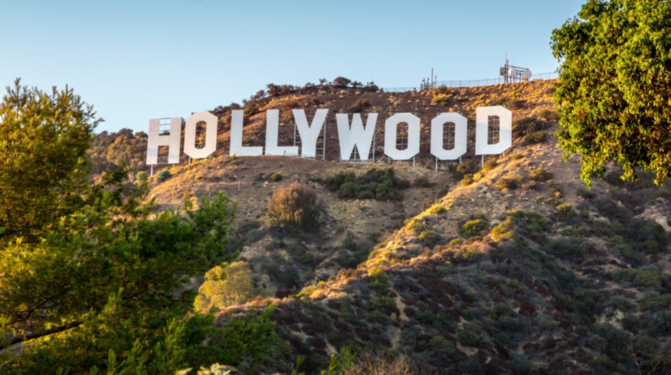 "Hollywood-skylten sattes upp 1923, men då stod det ""Hollywoodland""."