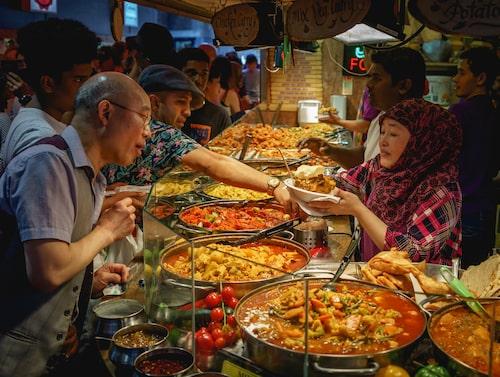 På Camden Market finns mat från jordens alla hörn.