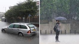 """Kraftiga skyfall i London: """"Aldrig sett liknande"""""""
