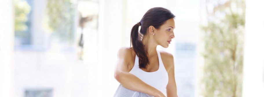 Träna yoga och bli medveten om maten.