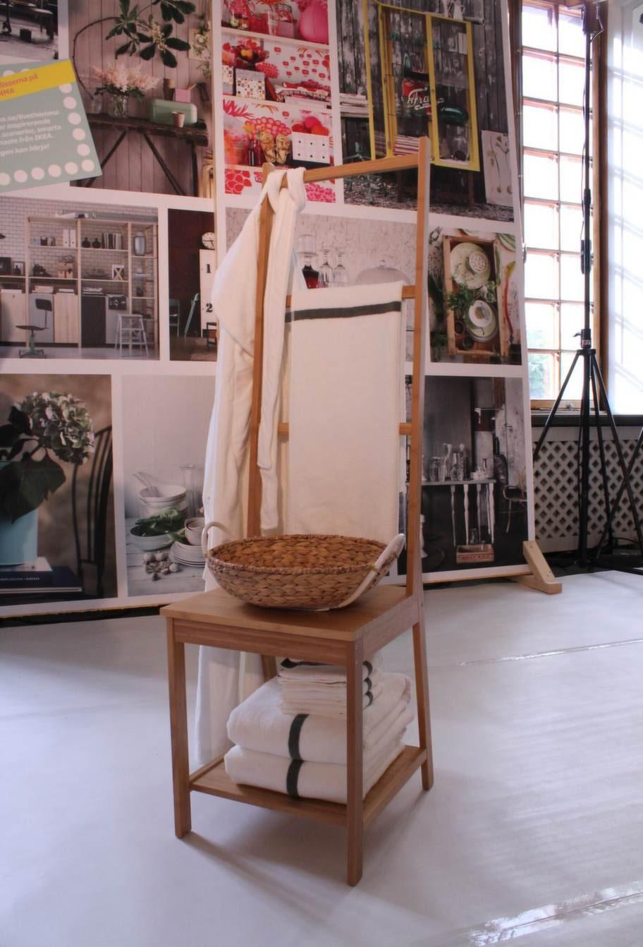 Susannes favorit!Vackraste nyheten är stolen Rågrund som också är en handdukshängare. Av bambu. 399 kronor.