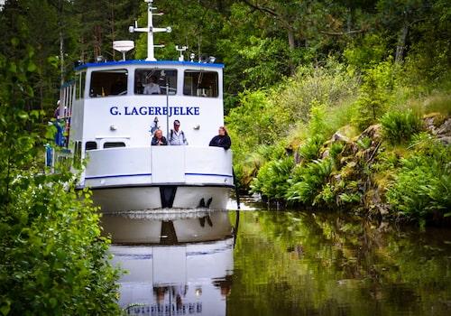 Passagerarbåten Gustaf Lagerbjelke har trafikerat Hjälmaren och Hjälmare kanal i 30 år.