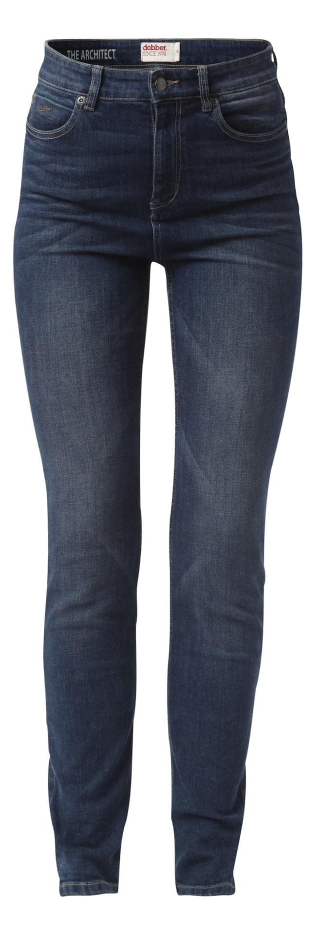 The Architect, Dobber, MQ, 599krDenimbyxa i 5-ficks modell i en mellanblå tvätt. Hög midja som håller magen på plats, smal passform och smalt ben nedtill.