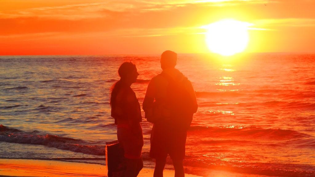 Solnedgångarna längs den polska Östersjökusten kan vara spektakulära.