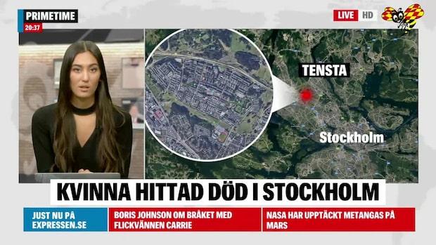 Kvinna hittad död i bostad i Tensta