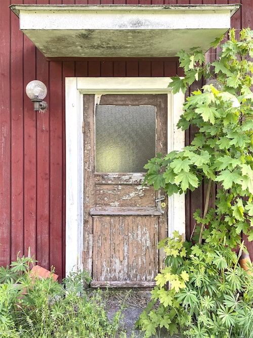Dörren in till huset