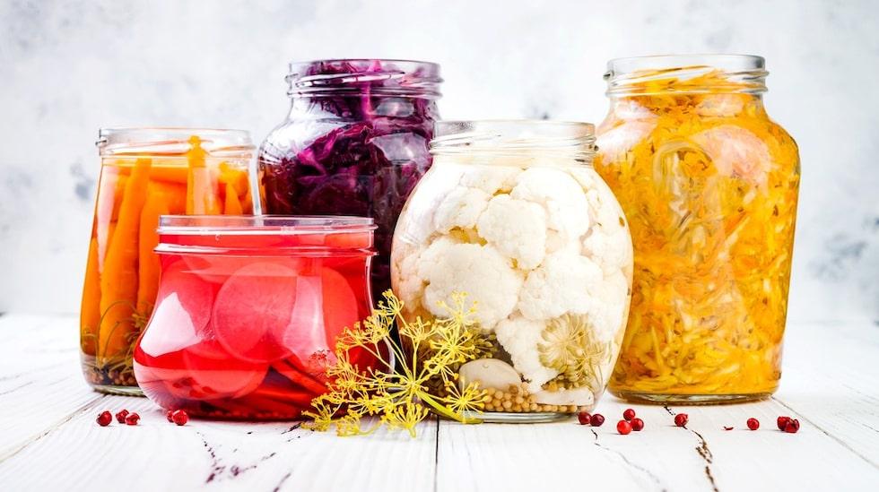 Fermenterad mat är rik på goda bakterier.