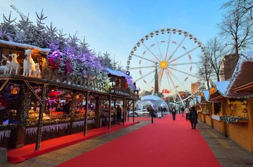 Bryssels julmarknad hålls på en två kilometer lång sträcka i Gamla stan.