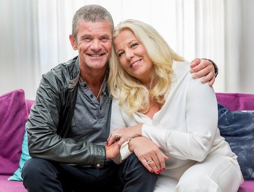 Mia tillsammans med maken Jesper Parnevik