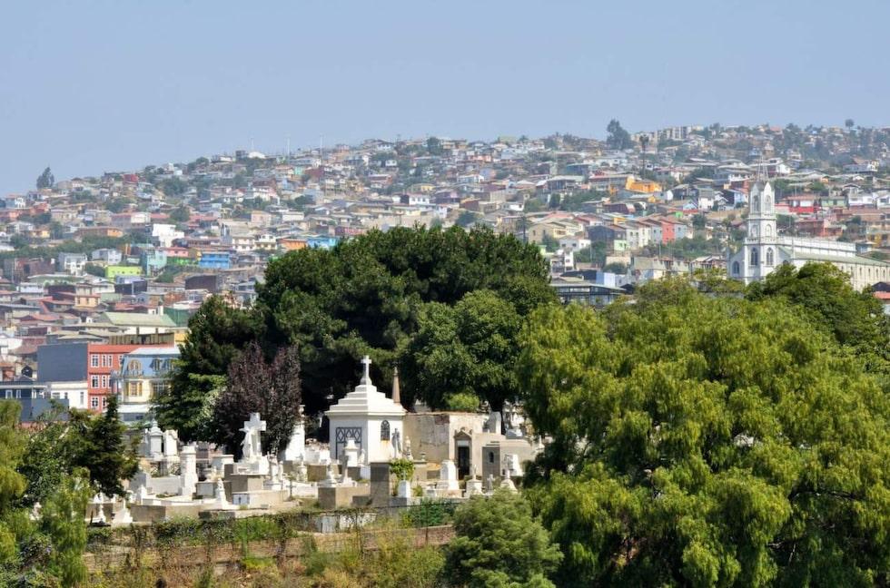<p>De oliktänkandes kyrkogård, Valparaiso, Chile.</p>