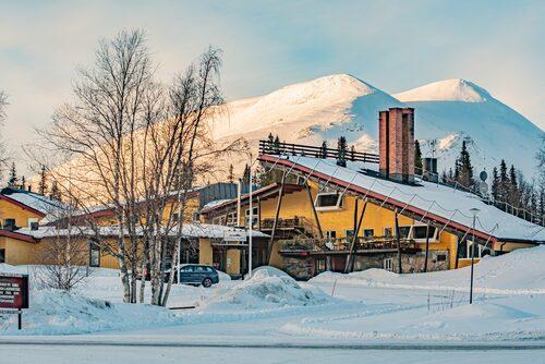 Hotell Borgafjäll ritades av den prisade arkitekten Ralph Erskine.