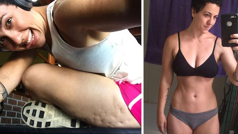 Fitnessbloggaren Jessi Kneeland fick utstå näthat för groparna i låret. Men hon lät sig inte tystas.