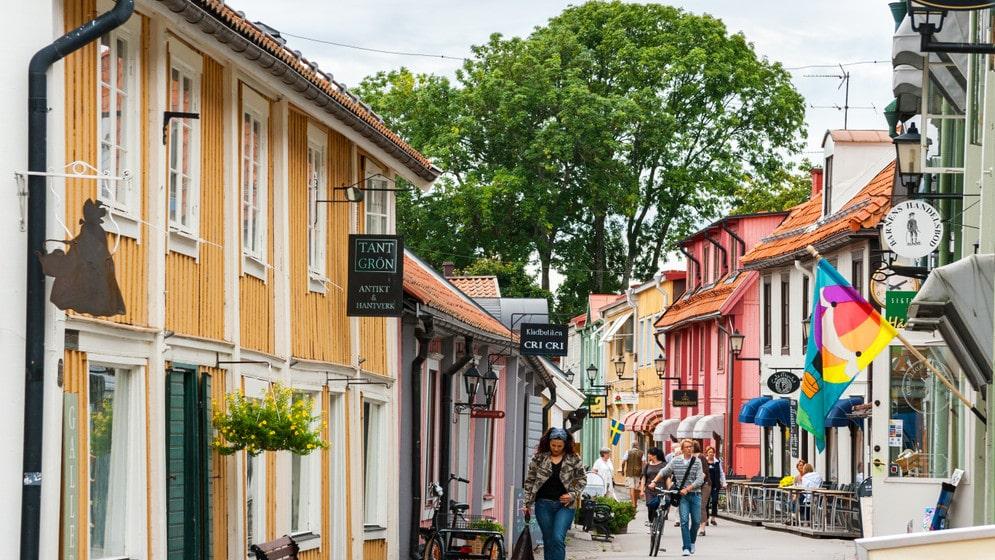 Söta Sigtuna, ett givet stopp på en Sverige-turné.