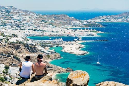Utsikt över Mykonos.