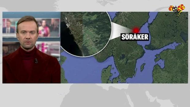 Skoter i krock med tåg i Söråker - flera till sjukhus