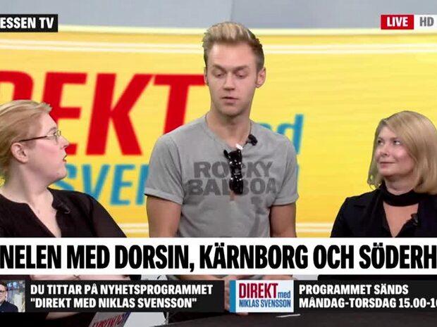 Panelen med Dorsin, Söderholm och Kärnborg
