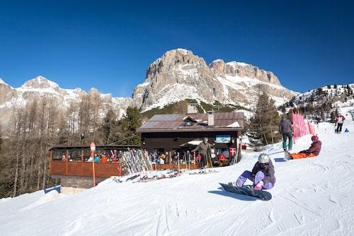 Belvedere anses av många ha den bästa skidåkningen i Canazei.