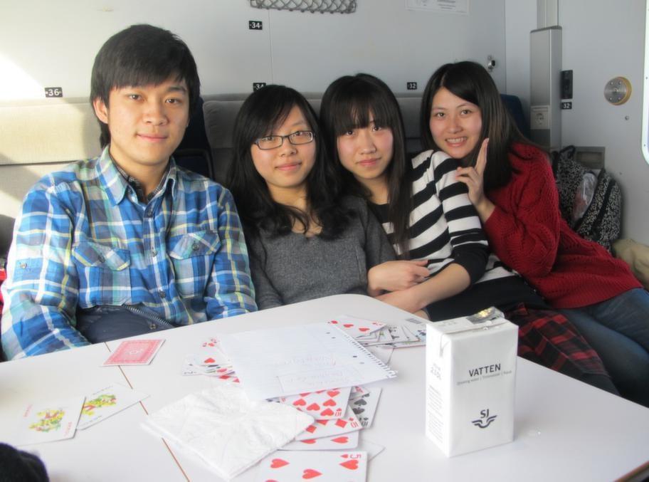 Zhang Hongyu, Will Xiong Xin, Laura Wang Jing och Katherine Wang Kaidi från Kina.