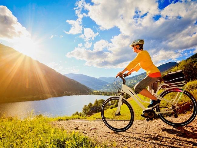 Elcykeln funkar både för pendling och för en semester i naturen.