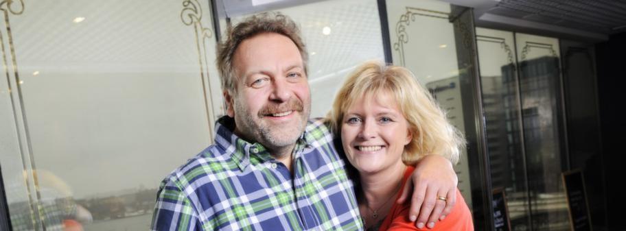 Torsten Jansson tillsammans med sin hustru Ulrica Messing på Radisson Blu Royal Viking Hotell för en frukost.