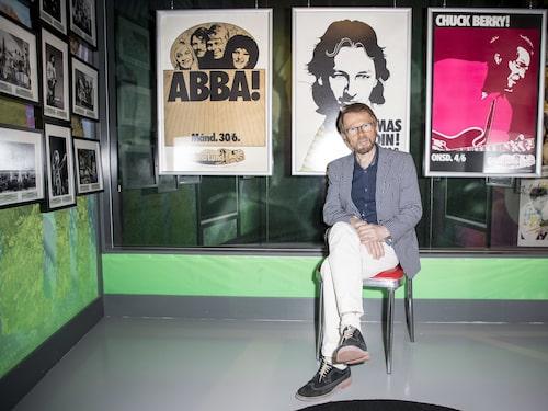"""Björn Ulvaes på """"sitt museum""""."""