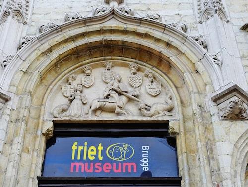 Pommes frites-museet ligger i en av Brygges äldsta byggnader.